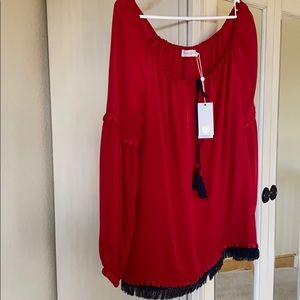 Tory Burch Off the Shoulder Top
